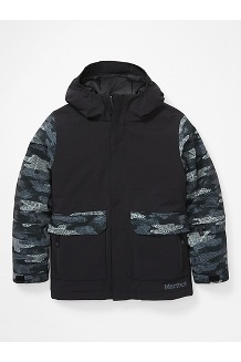 Kids' Barbeau Jacket, Black/Black Haze Camo, medium