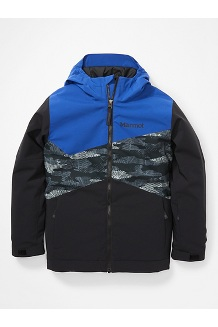 Kids' Tasman Jacket, Black/Black Haze Camo/Royal Night, medium