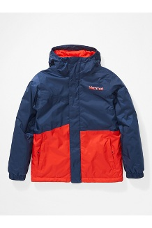 Kids' PreCip Eco Insulated Jacket, Arctic Navy/Victory Red, medium