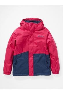 Kids' PreCip Eco Insulated Jacket, Very Berry/Arctic Navy, medium