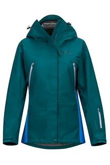 Women's Spire Jacket, Deep Teal/Clear Blue, medium