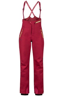 Women's Spire Bib Pants, Claret, medium