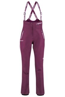 Women's Spire Bib Pants, Dark Purple, medium