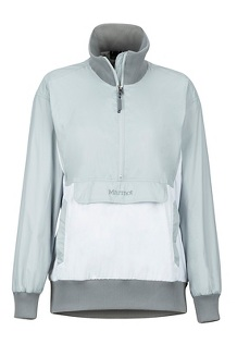 Women's Lynx DriClime Anorak, Bright Steel/White, medium