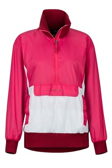 Women's Lynx DriClime Anorak, Disco Pink/White, medium