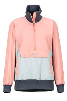 Women's Lynx DriClime Anorak, Coral Pink/Bright Steel, medium