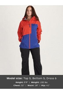 Women's Huntley Jacket, Royal Night/Victory Red, medium