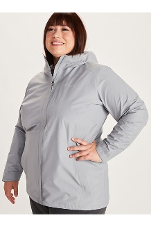 Women's Minimalist Jacket Plus, Sleet, medium
