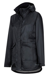 Women's Ashbury PreCip Jacket, Black, medium