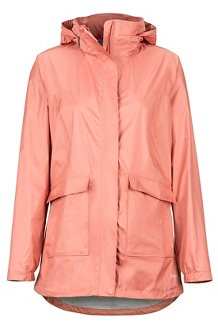 Women's Ashbury PreCip Jacket, Coral Pink, medium