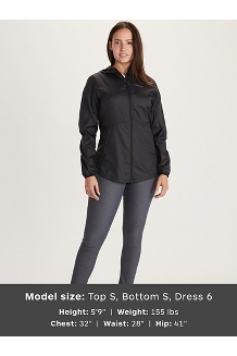 Women's Trail Wind Hoody, Black, medium