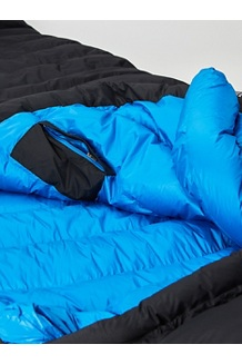 Paiju 10° Sleeping Bag - Long, Black/Clear Blue, medium