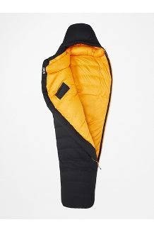 Paiju -5° Sleeping Bag - Long, Black/Solar, medium