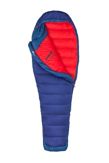 Women's Trestles Elite 20° Eco Sleeping Bag - Long, Midnight/Storm, medium
