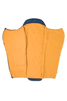 Zuma 30° Sleeping Bag - Long, Total Eclipse/Buckthorn Brown, medium