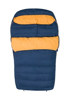Zuma Double Wide 35° Sleeping Bag, Total Eclipse/Buckthorn Brown, medium