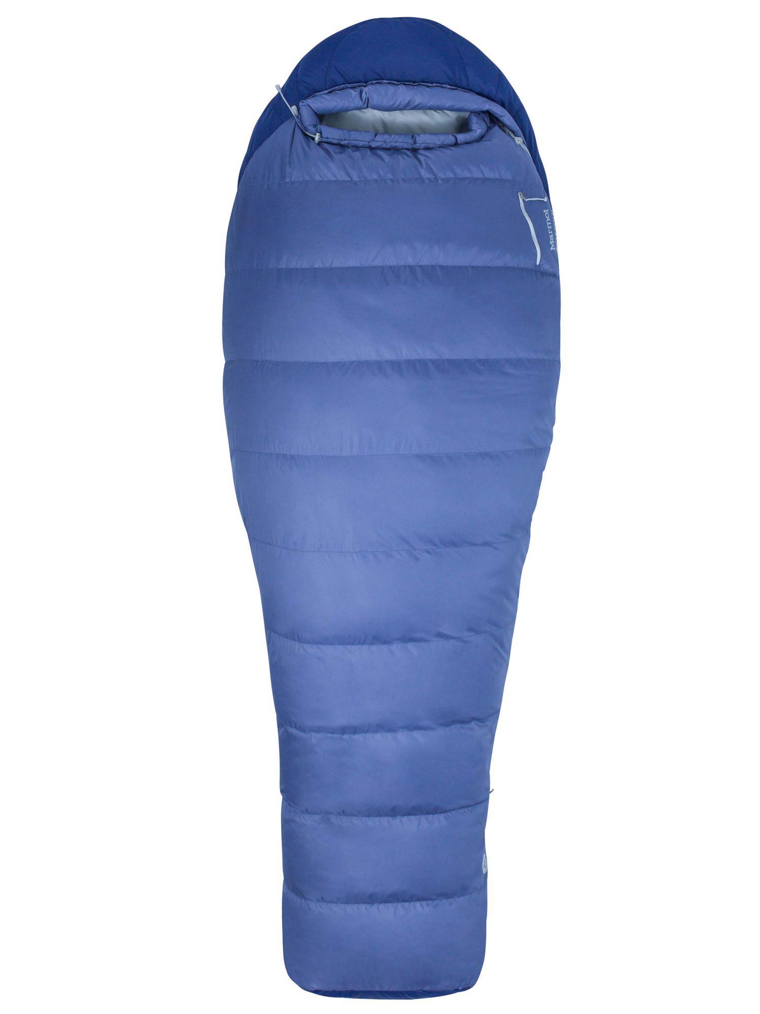Marmot Womens Wms Trestles 15 Mummy 183 cm//Right Zipper Extra Long French Blue//Harbor Blue Light and Warm 3 Seasons Sleeping Bag