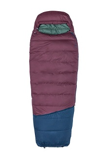 Argon 25 Sleeping Bag - Long, Burgundy/Total Eclipse, medium