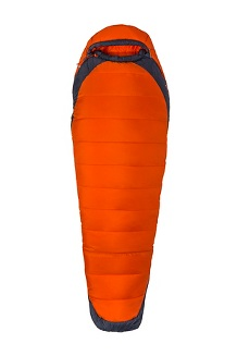 Trestles Elite Eco 0° Sleeping Bag - Long, Orange Haze/Dark Steel, medium