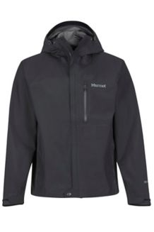 Minimalist Waterproof Jacket, Black, medium