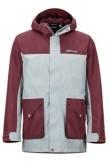 Wend Jacket, Grey Storm/Burgundy, medium