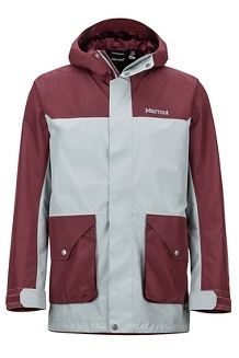 Men's Wend Jacket, Grey Storm/Burgundy, medium