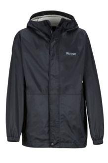 Boys' PreCip Eco Jacket, Black, medium