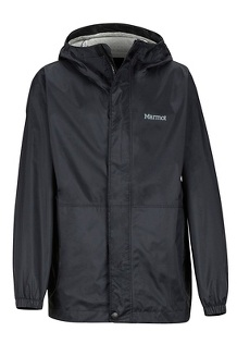 Boys' PreCip Eco Jacket, Black, medium