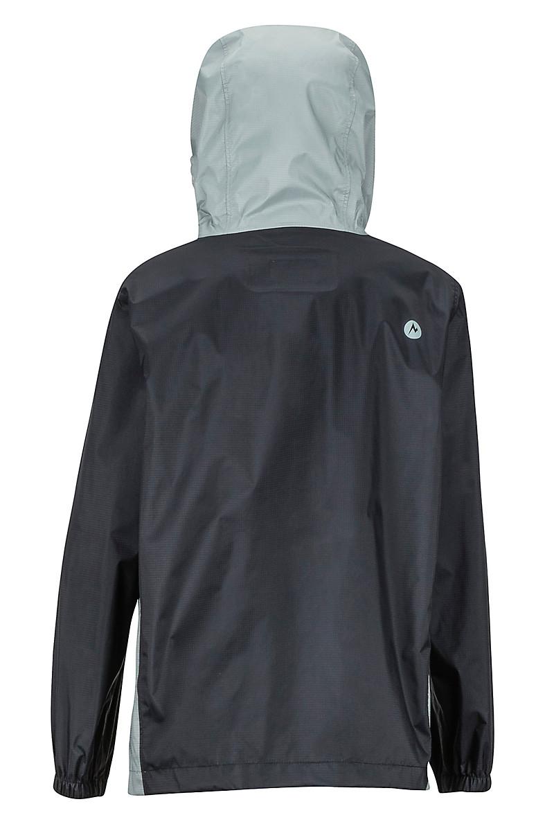 421b30bfc Boys' PreCip Eco Jacket, Black/Grey Storm, large