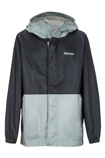 9f6297f8 Boys' PreCip Eco Jacket, Black/Grey Storm, medium