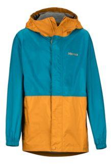 Boys' PreCip Eco Jacket, Late Night/Aztec Gold, medium