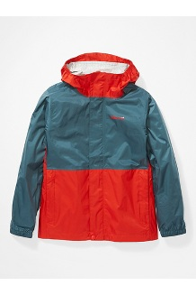 Kids' PreCip Eco Jacket, Victory Red/Stargazer, medium