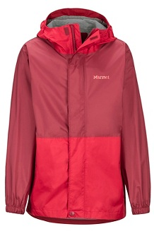 Boys' PreCip Eco Jacket, Team Red/Brick, medium