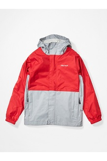 Boys' PreCip Eco Jacket, Team Red/Sleet, medium
