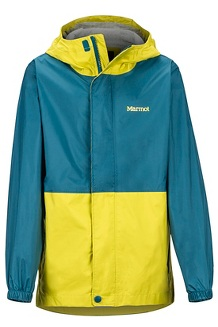 Boys' PreCip Eco Jacket, Citronelle/Moroccan Blue, medium