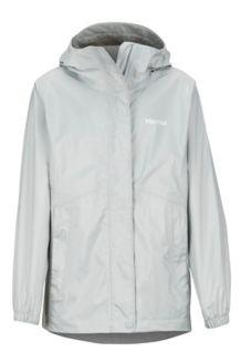 Girls' PreCip Eco Jacket, Bright Steel, medium