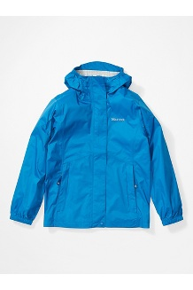 Girls' PreCip Eco Jacket, Classic Blue, medium