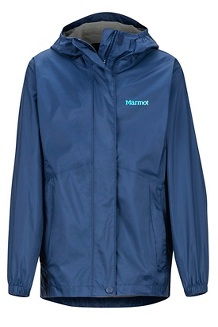 Girls' PreCip Eco Jacket, Arctic Navy, medium