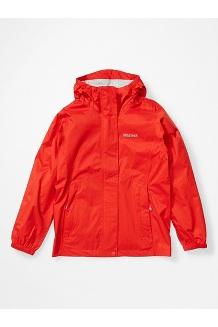 Girls' PreCip Eco Jacket, Victory Red, medium