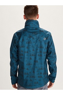 Men's PreCip Eco Print Jacket, Camping Print, medium