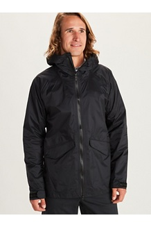 Men's Ashbury PreCip Eco Jacket, Black, medium
