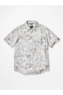 Men's Bennett Peak Short-Sleeve Shirt, Light Grey Leaf Camo, medium