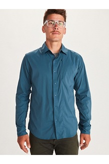 Men's Runyon Long-Sleeve Shirt, Denim, medium