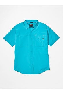 Men's Northgate Peak Short-Sleeve Shirt, Enamel Blue, medium