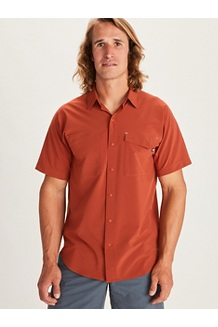 Men's Northgate Peak Short-Sleeve Shirt, Picante, medium