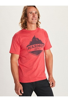 Men's Mono Ridge Short-Sleeve T-Shirt, Red Heather, medium
