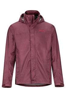 Men's PreCip Eco Jacket, Burgundy, medium
