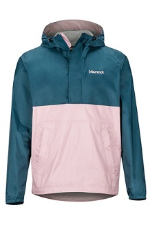 Men's PreCip Eco Anorak, Denim/Pink Sand, medium