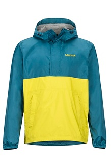 Men's PreCip Eco Anorak, Moroccan Blue/Citronelle, medium