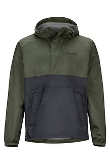 Men's PreCip Eco Anorak, Rosin Green/Black, medium
